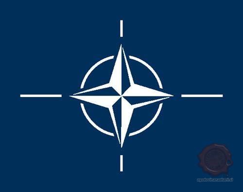 Zastava severnoatlantskega zavezništva. Vir: Nato.