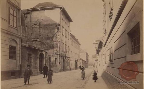 Gosposka ulica proti Kongresnemu trgu leta 1895.