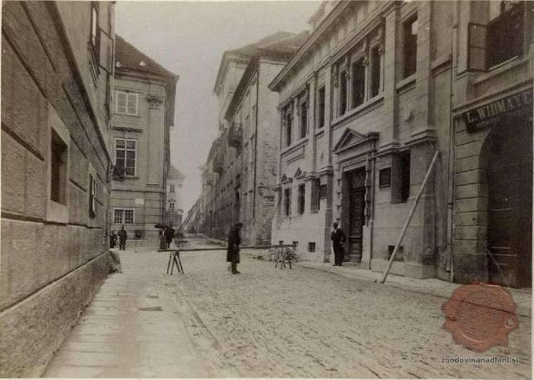 Gosposka ulica po potresu leta 1895.