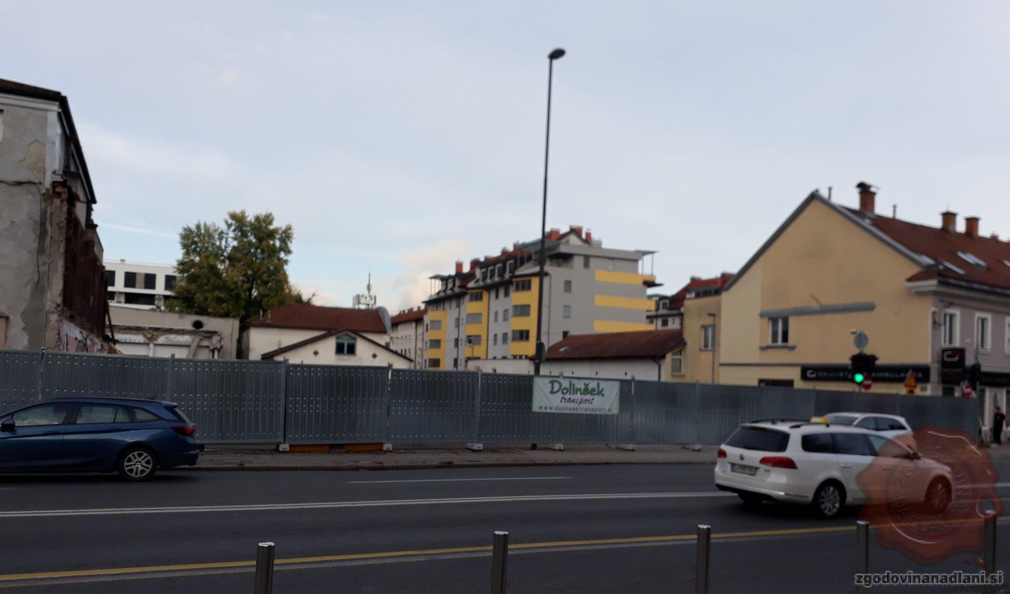 Mesto, kjer je nekoč stala gostilna Keršič, 10.10.2019. Foto: Aleš Šafarič.