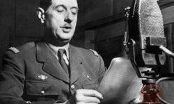 De Gaulle junija 1940 iz Londona poziva Francoze na boj proti nacizmu (FOTO: Wikipedia)