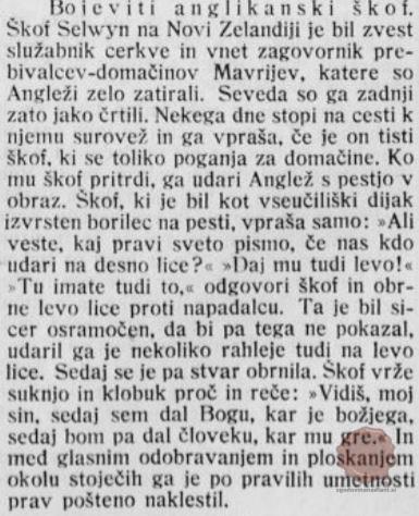 škof boksar, Slovenec 25.04.1908