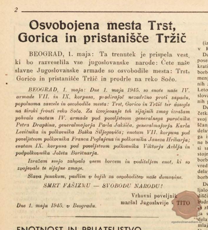 Ljudska pravica, 1.5.1945