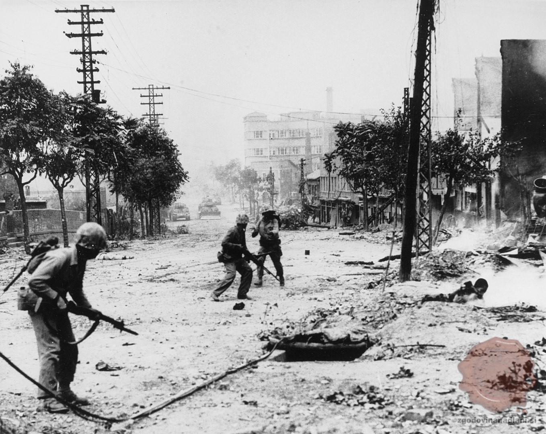 Spopadi v Seulu septembra 1950. Vir: Wikipedia.