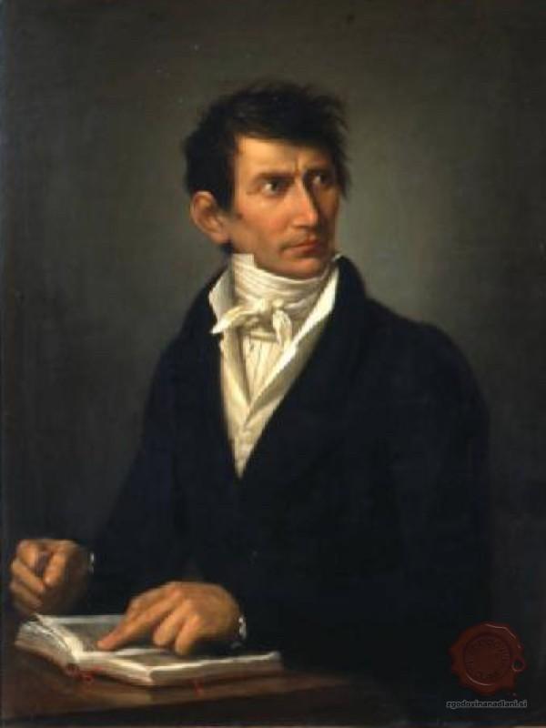 Franc Pollini v zrelih »italijanskih« letih, na sliki anonimnega portretista. Vir: ISMUS.